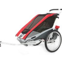 thule_chariot_cougar2_red_bike