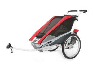 thule_chariot_cougar2_red_bike