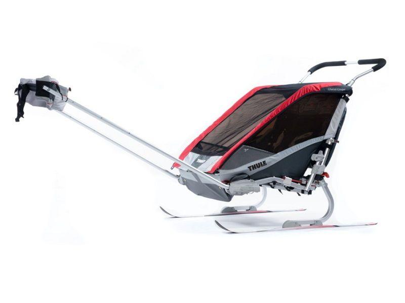 thule_chariot_cougar2_red_ski