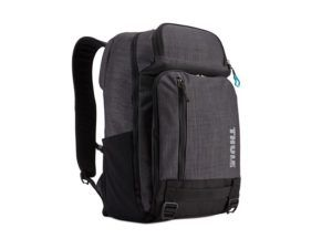 Contemporary commuter daypack with dedicated technology storage expands or compresses to accommodate a variety of gear.